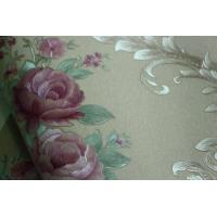 Best Eco-friendly waterproof cheap price flowers style PVC vinyl wall paper wholesale