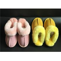 Best Tan Suede Sheepskin Slippers Winter Women Chestnut Classic Sheepskin Slippers wholesale