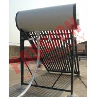 Quality Pressurized Solar Water Heater System With 20 Tubes Stainless Steel Reflector Frame wholesale