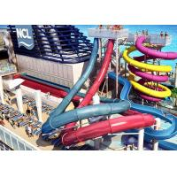 Best Fiberglass Children'S Water Slide Blue / Yellow / Customized For Water Park wholesale