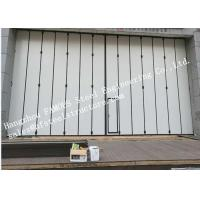 Cheap Aluminum Alloy Frame Upper Track Industrial Accordion Doors For Aircraft Hangar for sale