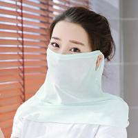 China wholesale 2019 Summer Sun Mask Women Breathable Face Mask dustproof windproof face Protection Chiffon Veil Scarf on sale