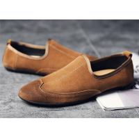 Best Lightweight Mens Summer Loafers Shoes , Wingtip Mens Suede Driving Shoes wholesale