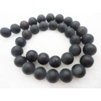 Best 10mm Agate Material Matte Black Onyx Beads , Semi Precious Gem Beads OEM wholesale