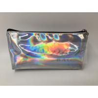 Best Laser PU Hologram Travel Cosmetic Bags With Zipper , Makeup Bag , Small Pouch wholesale