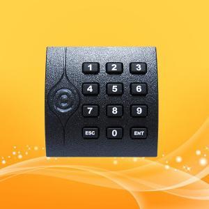 Best IP65 KR202E Keyboard RFID Card Reader , Smart Card Access Reader 86*86*16.3MM wholesale