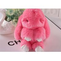 Cheap Luxury Colorful Fluffy Rabbit Keyring Portable For Handbag Charm Pendant for sale