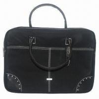 Laptop Bag with Neoprene Fabric, Leather Handle