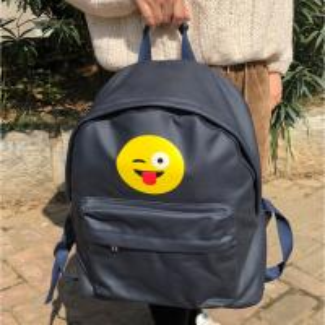 Best Dark Blue Waterproof Custom Canvas Backpacks For Teens Logo Printed wholesale