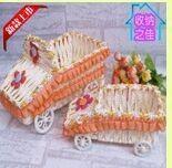 Car Shape Paper Rope Storage Basket