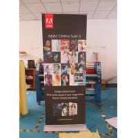 Best Advertising Pull Out Banner , Double Sided Retractable Banner With Wide Roller Stand wholesale