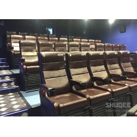 Best 4 Seats Black PU leather 4D Cinema Motion Chair Pneumatic / Electronic for Home Theater wholesale