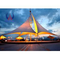 Quality Heavy Duty Tensile Fabric Structures Large Square Shade Sail Steel Q235 Frame wholesale