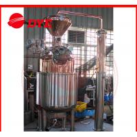 Best 300L Electricity Moonshine Whisky Pot Still , Small Copper Distiller CE wholesale