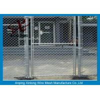 Best Diamond Hole Chain Link Mesh Fence Galvanized Wire Mesh For Sports Ground Barrier wholesale