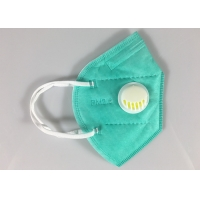 Buy cheap Factory Stock Kn95 Face Mascarilla 5 Ply Green Dust Mask With Valve from wholesalers