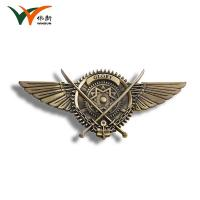 Best Wings Antique Bronze Metal Pin Badges Promotional Gifts 78*35mm Size wholesale
