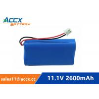 Best 18650 11.1V 2600mAh li-ion battery pack with pcm protection wholesale