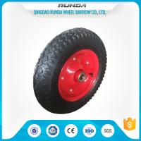 Best Carbon Steel Pneumatic Rubber Wheels Ball Bearing , Pneumatic Wagon Wheels OEM wholesale