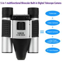 Best DT08 Binocular Built-in Digital Telescope Camera Far Shoot 1.3MP Video Recorder 10x25 101M/1000M outdoor camping hiking wholesale
