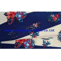 Best 228T Polyester Outdoor Fabric Taslan Peach Stripes Floral Printing Water Repellent 2000MM Milk White Coating wholesale
