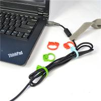 Best PP Material Cable Drop Clips Cord Ring Clamp For USB And Charge Line wholesale
