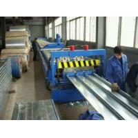 Best 15kw Floor Deck Roll Forming Machine Galvanzied Coil Material 9.5m×1.5m×1.3m wholesale