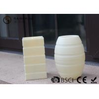 Best Plastic Material Led Pillar Candles With Flat Top Striped Candle Set wholesale