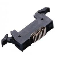 Best 20P 1.27 * 2.54mm Latch Header Right Angle Male  Connector PA9T plastic ROHS wholesale
