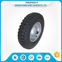 Best Steel Rim Pneumatic Rubber Wheels 20mm Inner Hole Ball Bearing 150kgs Loading wholesale