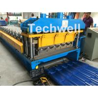 Best 3D Step Tile Roll Forming Machine , Glazed Roof Panel Roll Forming Machine wholesale