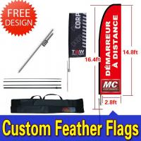 Best Windchaser Feather Flags Banner with fiberglass pole , cross base and carry bag wholesale