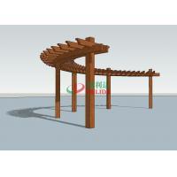 Best Durable Arched Pergola Kits 14.3m X 1.5m  ,  High Density Composite Wood Pergola wholesale