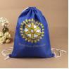 Best recycled polyester advertising drawstring bags custom printed medium sports backpacks wholesale