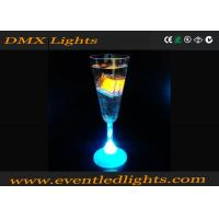 China Azure Party Champagne Led Plastic Cups , RGB Lighted Wine Glasses on sale