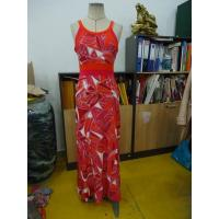 Best Beautiful Womens Summer Maxi Dresses Single Jersey Maxi Dress Coral Abstract Printing wholesale