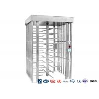 Cheap Deluxe Automatic Full Height Turnstile  Pedestrian System Parking Facilities Rotating Gate With 304# Stainless Steel for sale