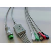 5 Lead Mindray Ecg Cable , Round 12 Pins Adult Ecg Cables And Leadwires