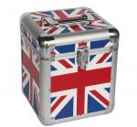 Best 7'' Union Jack Flag Aluminum Carry Cases For Lp 50pcs, UK Flag Aluminum Cases wholesale