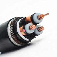 Cheap Aluminum Conductor 3 Core Armored PVC Insulated Power Cable Creep Resistance for sale