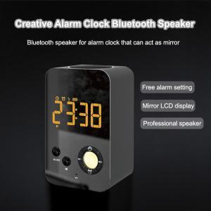 Best DY38 Wireless Makeup Mirror Speaker Bluetooth Alarm Clock Megaphone with FM Radio wholesale