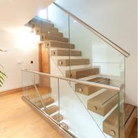 Best Side Mounted Tempered Glass Stainless Steel Standoff Stair Railing wholesale