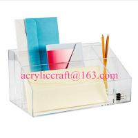 China Factory acrylic office suppliers clear acrylic desktop organizer on sale