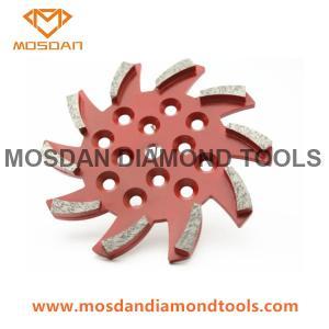 Best 10'' Diamond Floor Concrete Grinding Plate Discs with 10 Bars Segment wholesale