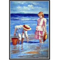 Best Wholesale oil painting and custom oil painting with two kids wholesale