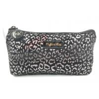 "Best Silver Leopard Zipper Cosmetic Bags , Small Cosmetic Pouch 9""X4.5""X1.5"" wholesale"