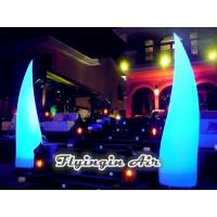 Best 3m High Beautiful Inflatable Light Cone for Wedding Night and Stage wholesale