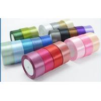 China Multicolor Personalised Satin Ribbon , Polyester Satin Ribbon For Gift Packaging on sale