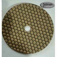 Best 7 Inch Honeycomb Dry Diamond Polishing Pads For Stone Surface Super Soft Type wholesale
