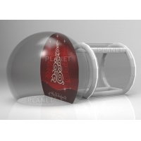 Best Custom Backdrop Inflatable Christmas Photo Snow Globes With Tunnel wholesale